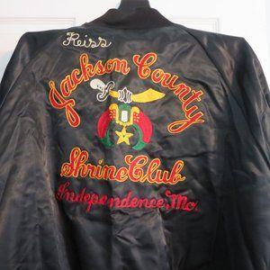 Vintage Shriners Shrine Club Satin Jacket